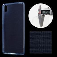 Ultratenký 0.5 mm gelový obal na Sony Xperia X - tmavěmodrý
