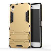 Odolný kryt na mobil Sony Xperia X - zlatý