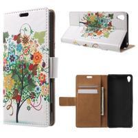 Emotive pouzdro na mobil Sony Xperia XA - květinový strom