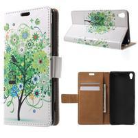 Emotive pouzdro na mobil Sony Xperia XA - zelený strom