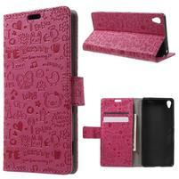Cartoo peněženkové pouzdro na mobil Sony Xperia XA - rose