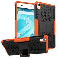 Outdoor odolný obal na mobil Sony Xperia XA - oranžový