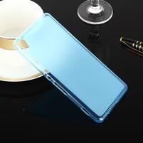 Oboustranně matný gelový obal na Sony Xperia XA - modrý