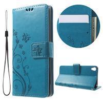 Butterfly pouzdro na mobil Sony Xperia XA - modré