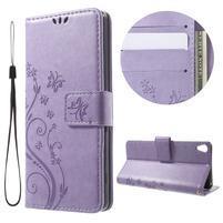 Butterfly pouzdro na mobil Sony Xperia XA - fialové
