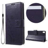 Butterfly pouzdro na mobil Sony Xperia XA - tmavěfialové