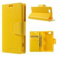 Sonata PU kožené pouzdro na mobil Sony Xperia Z1 Compact - žluté