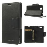 Sonata PU kožené pouzdro na mobil Sony Xperia Z1 Compact - černé