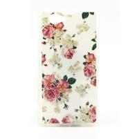 Softy gelový obal na Sony Xperia Z1 Compact - květinky