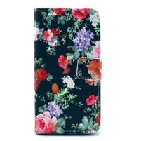 Pouzdro na mobil Sony Xperia Z1 Compact - květinová koláž