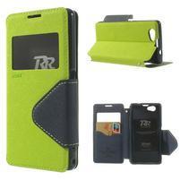 Okýnkové pouzdro na mobil Sony Xperia Z1 Compact - zelené