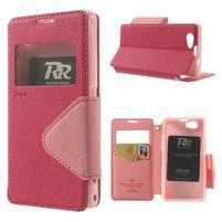 Okýnkové pouzdro na mobil Sony Xperia Z1 Compact - rose