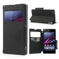 Okýnkové pouzdro na mobil Sony Xperia Z1 - černé