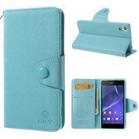 Stylové peněženkové pouzdro na Sony Xperia Z2 - světle modré
