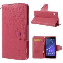 Stylové peněženkové pouzdro na Sony Xperia Z2 - rose