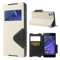 Okýnkové pouzdro na mobil Sony Xperia Z2 - bílé