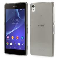 Ultratenký slim gelový obal na mobil Sony Xperia Z2 - šedý