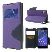 Okýnkové pouzdro na mobil Sony Xperia Z2 - fialové