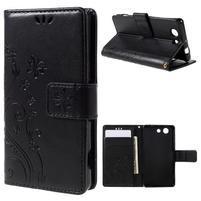 Butterfly PU kožené pouzdro na mobil Sony Xperia Z3 Compact - černé