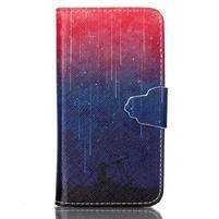 Emotive knížkové pouzdro na Sony Xperia Z3 Compact - meteory