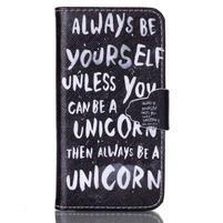 Emotive knížkové pouzdro na Sony Xperia Z3 Compact - unicorn