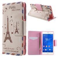 Emotive peněženkové pouzdro na Sony Xperia Z3 - Eiffelova věž