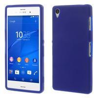 Silikonový obal na mobil Sony Xperia Z3 - tmavěmodrý