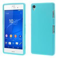Silikonový obal na mobil Sony Xperia Z3 - světlemodrý