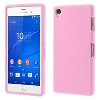 Silikonový obal na mobil Sony Xperia Z3 - růžový
