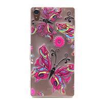 Gelový obal na mobil Sony Xperia Z3 - barevný motýlci
