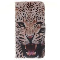 Patt peněženkové pouzdro na Samsung Galaxy A3 (2016) - leopard se zoubky