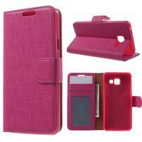 Cloth peněženkové pouzdro na mobil Samsung Galaxy A3 (2016) - rose