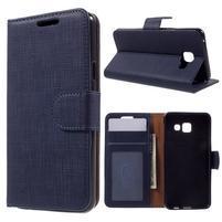 Cloth peněženkové pouzdro na mobil Samsung Galaxy A3 (2016) - tmavěmodré