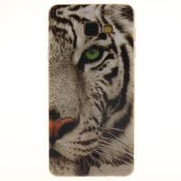 Silk gelový kryt na mobil Samsung Galaxy A3 (2016) - bílý tygr