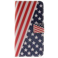 Pouzdro na mobil Samsung Galaxy A3 (2016) - US vlajka
