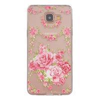 Slim průhledný gelový obal na Samsung Galaxy A3 (2016) - růže