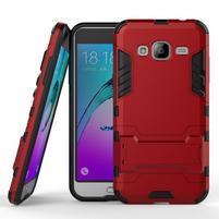 Outdoor odolný obal na Samsung Galaxy J3 (2016) - červené