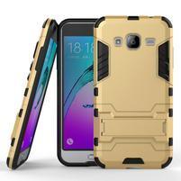 Outdoor odolný obal na Samsung Galaxy J3  (2016) - zlaté