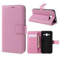 Peněženkové pouzdro na mobil Samsung Galaxy J3 (2016) - růžové