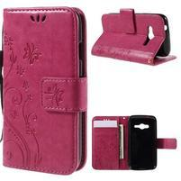 Butterfly pouzdro na mobil Samsung Galaxy Trend 2 Lite - rose