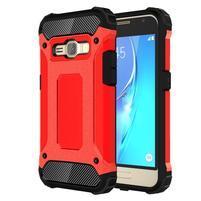 Armory odolný obal na mobil Samsung Galaxy J1 (2016) - červený