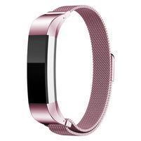 Steel řemínek z nerezové oceli na Fitbit Alta Mesh - růžový
