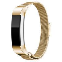 Steel řemínek z nerezové oceli na Fitbit Alta Mesh - zlatý
