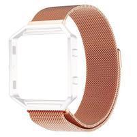 Loop řemínek z nerezové oceli na chytré hodinky Fitbit Blaze - rosegold