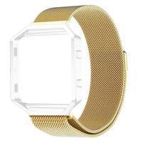 Loop řemínek z nerezové oceli na chytré hodinky Fitbit Blaze - zlatý