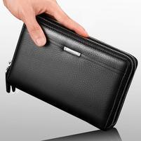 Leina PU kožená příruční taška v rozměru 21 x 12cm - černá