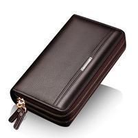 Leina PU kožená příruční taška v rozměru 21 x 12cm - hnědá