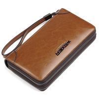 Weix peněženka z pravé kůže s přihrádkami - koňak