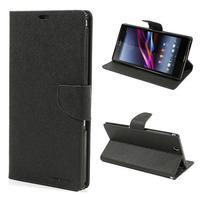 Diary PU kožené pouzdro na Sony Z Ultra - černé