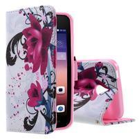 Stylové pouzdro na mobil Huawei Ascend Y550 - květy